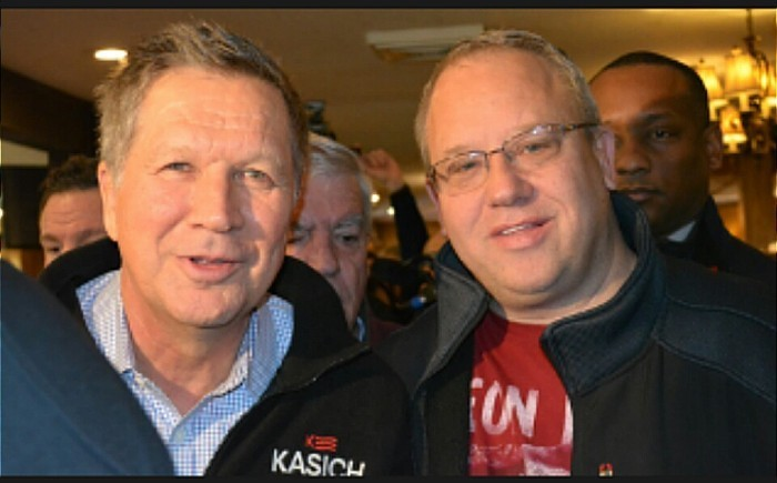 Michael DeLeon with John Kasich