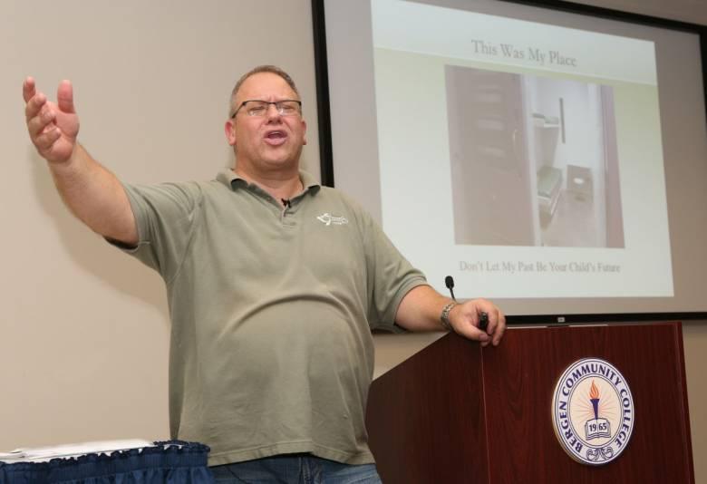 Michael giving presentation