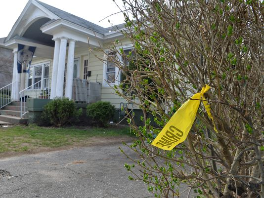 House with caution tape