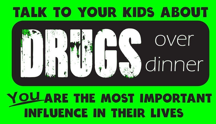 Drugs Over Dinner: Stickers Encourage Parents to Talk to Kids About Drugs