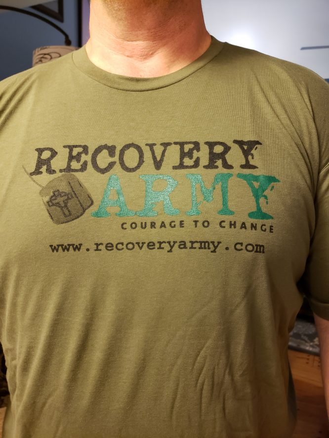 Green Recovery army t-shirt