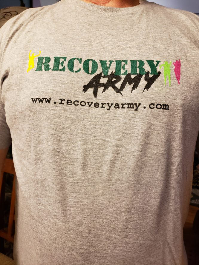 Grey Recovery army t-shirt