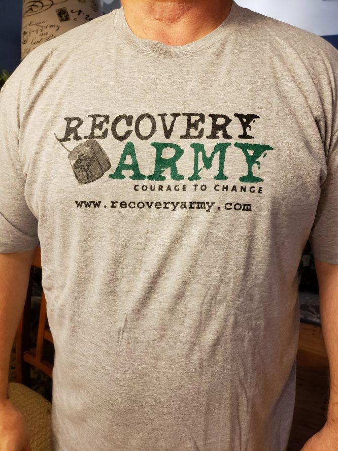 Grey V2 - Recovery Army T-Shirt Grey V2
