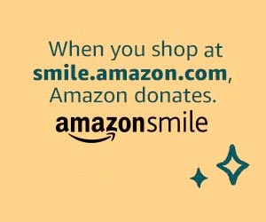 Shopping at Amazonsmile / Amazon donate graphic