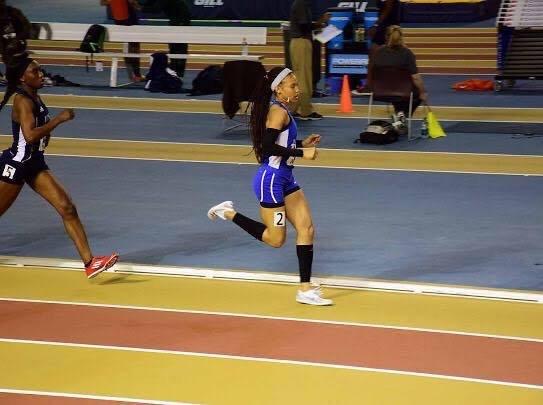 Shaina Marie Afful running in a race