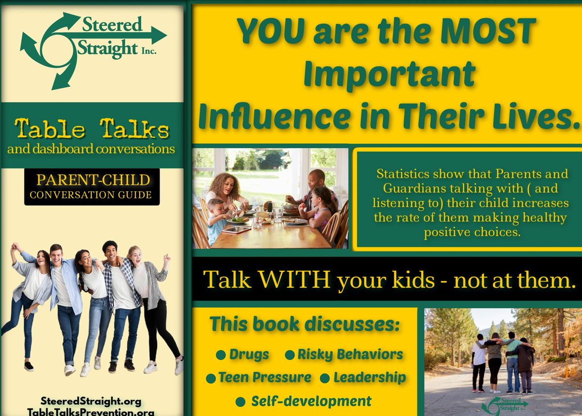 You are the most important influence in their lives